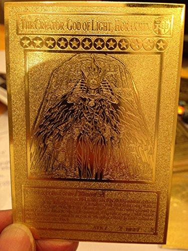 Yugioh The Creator God of Light Horakhty custom Golden Metal Card English New