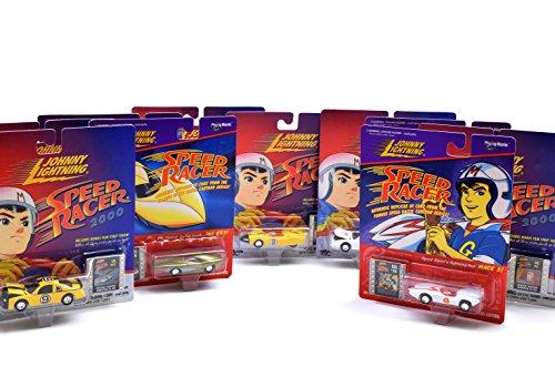 Johnny Lightning Speed Racer Die Cast Set - 10 Car Set