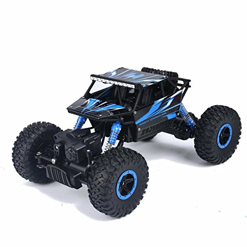 SZJJX RC Rock Off-Road Vehicle 24Ghz 4WD High Speed 118 Racing Cars RC Cars Remote Radio Control Cars Electric Rock Crawler Electric Buggy Hobby Car Fast Race Crawler Truck-Blue