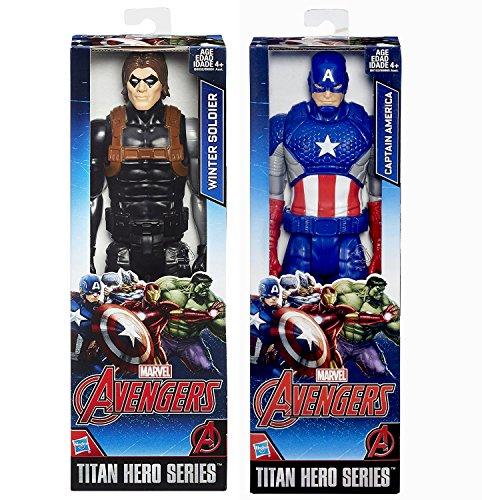 Marvel Titan Hero Series Captain America  Winter Soldier Action Figure Avengers Set