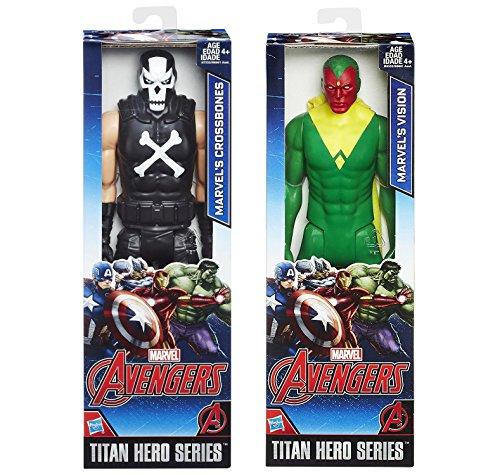 Marvel Titan Hero Series Crossbones VS Vision Action Figure Avengers Set