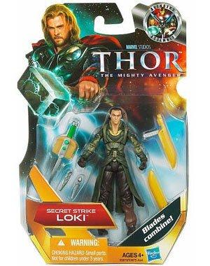 Thor The Mighty Avenger Action Figure 04 Secret Strike Loki 375 Inch