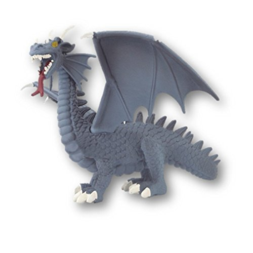 Gray Grey Blue Dragon Action Figure Toy - A Must Have For Children and Teens - Excellent as a Collectors Item
