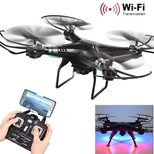 Fullkang New X5SW-1 Wifi FPV RTF 24G 4CH RC Black quadcopter Camera Drone with HD Camera UAV