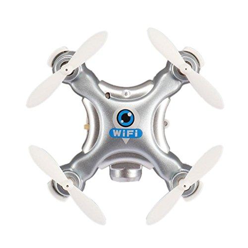 Tiean Cheerson Mini CX-10W-TX 24G 6-Axis Gyro RC Quadcopter HD Camera Wifi Drone Silver