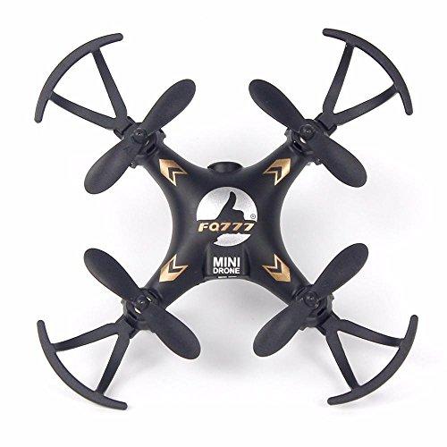 Drone Quadcopters Lonsbo FQ777 951C 24G 4CH 6-Axis Gyro 03MP Camera RTF RC Quadcopter Drone Toy Black Mini Drone