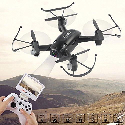 LIDIRC L8F 58GFPV 24GHz 6-Axis Drone with 20MP HD Camera One-Key-return Headless 3D Flip RC Quadcopter-BlackWhiteRandow