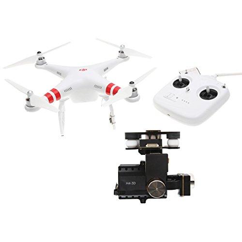DJI Phantom 2 Quadcopter V20 Bundle 3-Axis Zenmuse H4-3D Gimbal for GoPro Hero 4 Black White