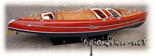 Gia Nhien SB0006P-100 Typhoon Painted Wooden Model Speed Boat
