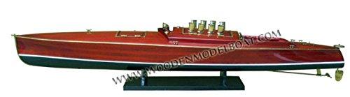 Gia Nhien SB0013P Dixie II Wooden Model Speed Boat