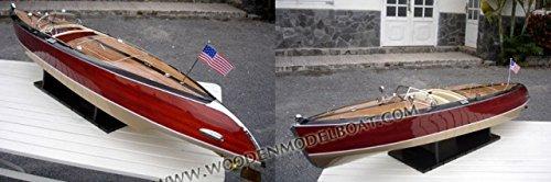Gia Nhien SB0022P-100 Stan Craft Torpedo Wooden Model Speed Boat