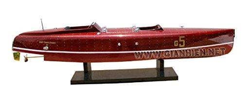 Gia Nhien SB0030P-90 Baby Bootlegger Wooden Model Speed Boat