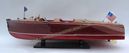 Gia Nhien SB0181P-80 Chris Craft Barrel Back 1940 Wooden Model Speed Boat