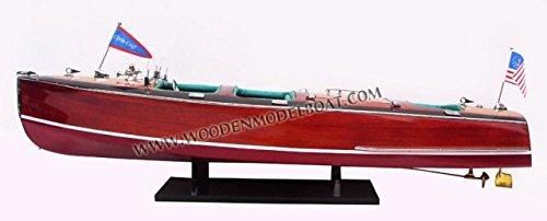 Gia Nhien SB0182P-70 Chris Craft Triple Cockpit - 1930 Wooden Model Speed Boat