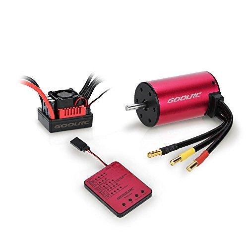 Original GoolRC S3650 3100KV Sensorless Brushless Motor 45A Brushless ESC and Program Card Combo Set for 110 RC Car Truck