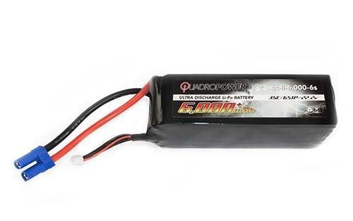 QuadroPower 6000mAh 6S Lipo Battery