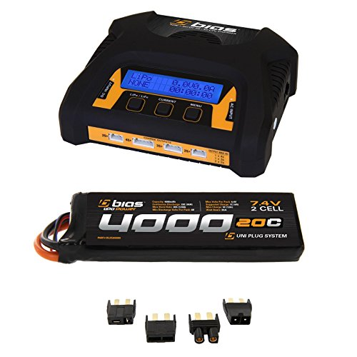 Bias 20C 2S 4000mAh 74V LiPo Battery and 2-4 Cell Balance Charger Combo
