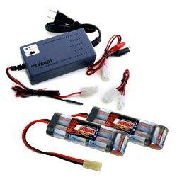 2 pcs Tenergy 84v 1600mAh NiMH Flat Battery Packs for Airsoft Guns w A Tenergy 72V - 12V NiMHNiCd Smart Universal Battery Pack Charger
