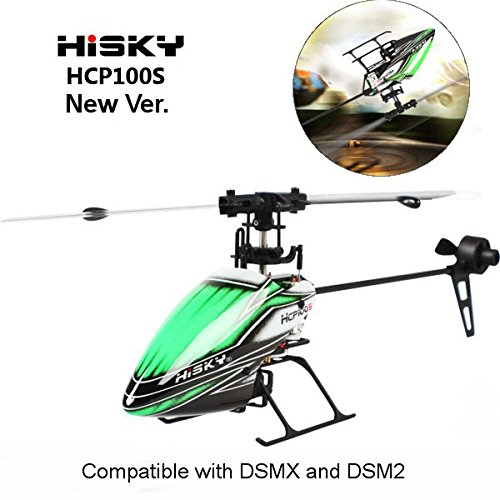 Hisky HCP100S 6CH 24Ghz Dual Brushless Flybarless RC Helicopter BNF