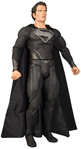 NECA Black Suit Man of Steel 18 Deluxe Superman Action Figure 14 Scale