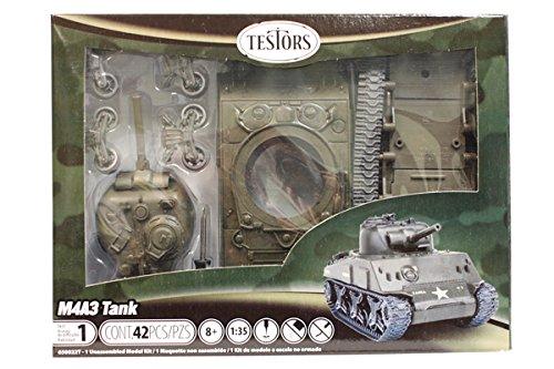 Testors Classic M4A3 Tank Model Kit 135 Scale