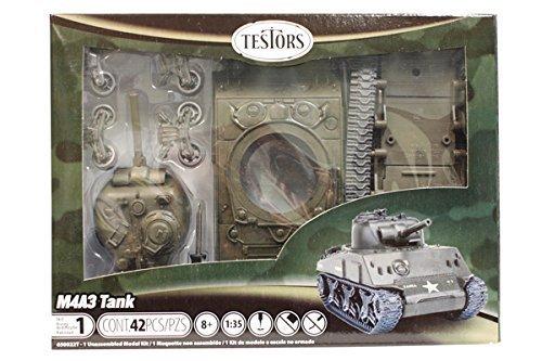 Testors Classic M4A3 Tank Model Kit 135 Scale parallel import goods