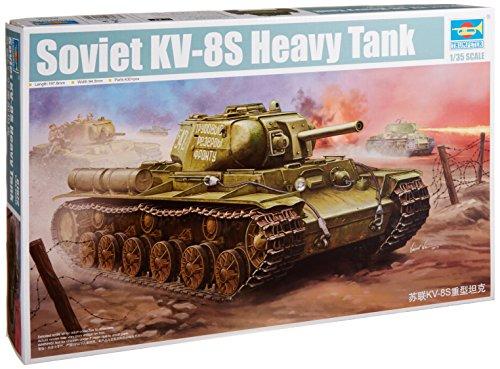 Trumpeter Soviet KV8S Heavy Tank Model Kit 135 Scale