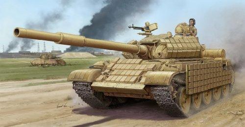 Trumpeter T62 ERA Mod 1972 Iraqi Army Tank Model Kit 135 Scale