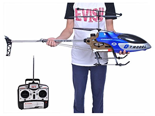 53 Inch Extra Large GT QS8006 2 Speed 35 Ch RC Helicopter Builtin GYRO Blue