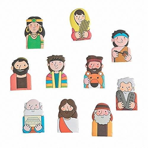 Fun Express Bible Character Figure Finger Puppets - 10 Pieces