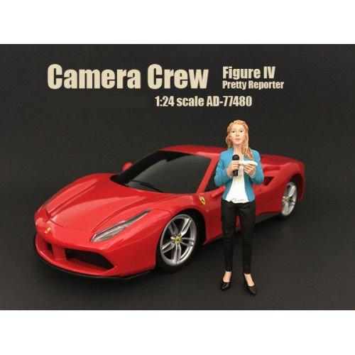 Camera Crew Figure IV Pretty Reporter For 124 Scale Models by American Diorama 77480