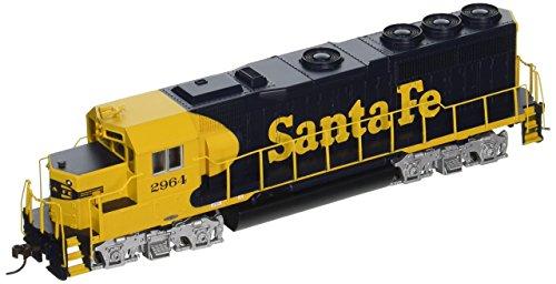 Bachmann Industries EMD GP40 DCC Santa Fe 2964 Sound Value Equipped Locomotive HO Scale BlueYellow