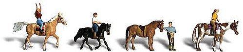 Woodland Scenics HO Scale Scenic Accents FiguresPeople Set Horseback Riders 4