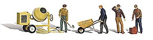 Woodland Scenics HO Scale Scenic Accents FiguresPeople Set Masonry Workers 4