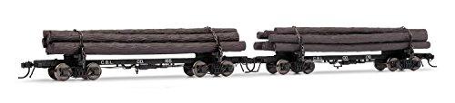 Rivarossi HO Scale- Log Car Coos Bay 165 178 Lumber Train 2 Pack