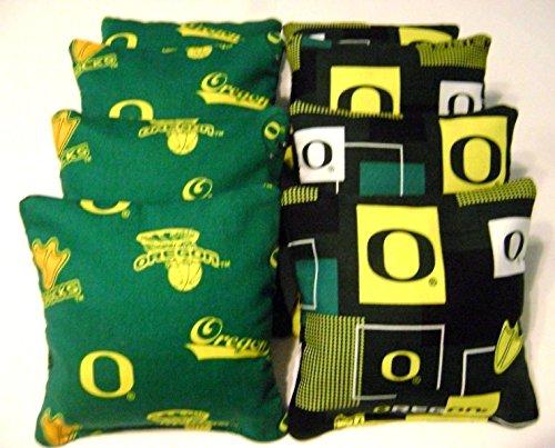 8 Oregon Ducks Cornhole Bean Bags Tailgate Toss Game Top Quality Regulation