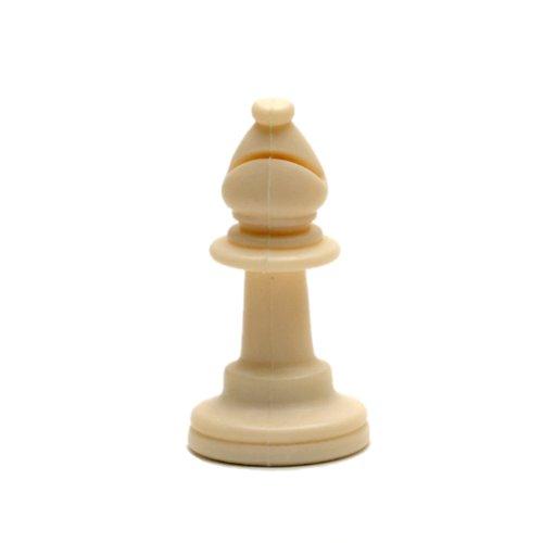 WE Games Replacement Staunton Tournament Chess Piece - Heavy Weighted Light Bishop