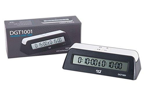 DGT 1001 Digital Chess Clock - Black by The House of Staunton Inc