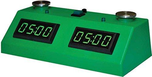 Zmart Fun ZMF-II Digital Chess Clock - Green LED Display  Green Case by The House of Staunton Inc