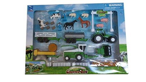 Newray Animal-Tractor Combine Pretend Play Toy Vehicle Set