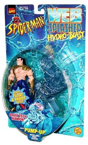 Toy Biz Year 1998 Spider-Man Web Splashed Hydro-Blast Series 5 Inch Tall Action Figure with Vehicle Set - AQUA TECH