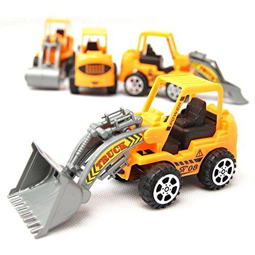 Tractor SetPack of 2 Construction Toy Vehicles Set - Bulldozer Road Roller Forklift Excavator Toy Construction Mini MachineRandom distribution