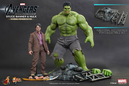 Hot Toys Avengers burner Dr Bruce u0026 Hulk Set of 2 Masterpiece 16 Scale Collectible Figure Figure 16