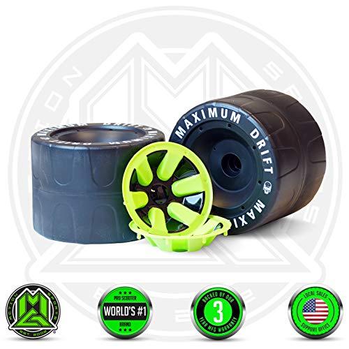 MADD GEAR - DRIFT TRIKE REPLACEMENT REAR WHEELS SET - Black Green - Worlds 1 Pro Scooter Brand - Built to Last Madd Gear Est 2002