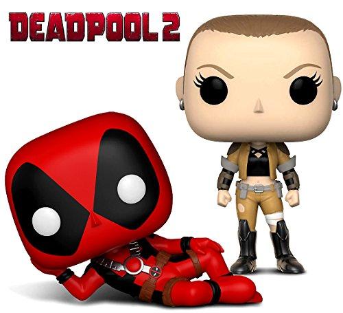 Funko Pop Marvel Deadpool Parody Deadpool and Negasonic Action Figure Bobble Heads Toys