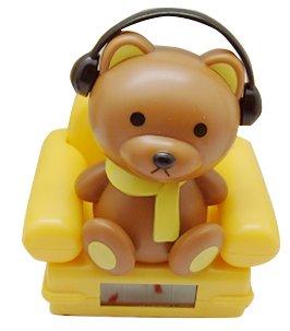 Solar Power Toy  Brown Bear Bubble Head