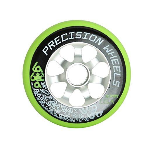 110mm Pro Scooter Wheel Labeda Precision Aluminum Core Green High Rebound