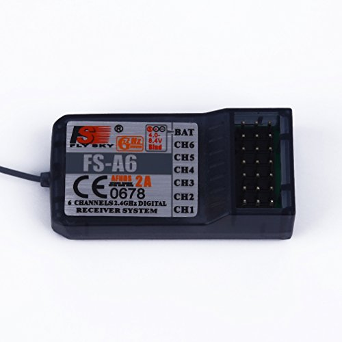 Hobby-Ace 24GHz 6CH 140 Band -105dBm Receiver for FlySky FS-A6 RC Airplane Quadcopter