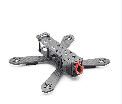 Usmile 210mm 3K Carbon Fiber Quadcopter Frame kit with removable 4mm arms for FPV racing