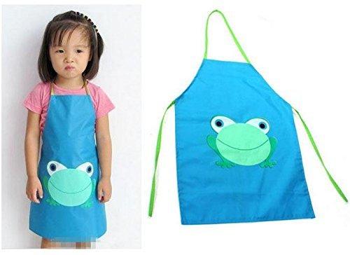 Frog Waterproof Cooking Apron Kids Painting Smocks - Blue Model